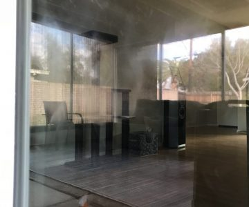 Dog Scratched Brand New Sliding Door Picture | Glass Restoration Guru