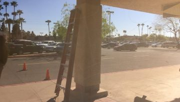 Storefront glass graffiti Repair and Restoration | Glass Restoration Guru
